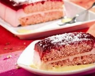 Bûche légère Weight Watchers framboise et citron