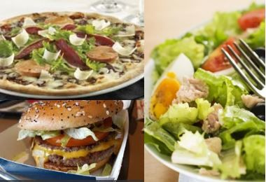 Pizza/Burger VS Salade