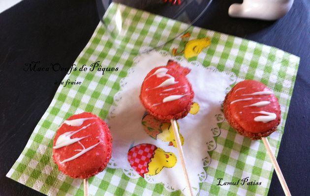 Maca'oeufs Pops de Pâques à la fraise + Gabarit