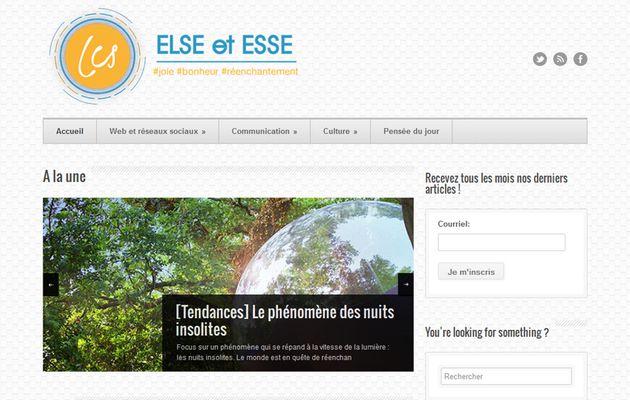 Else et Esse, le blog que j'aurai aimé tenir