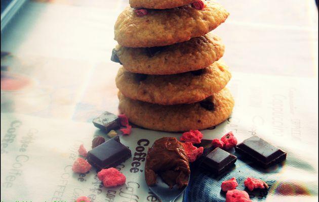 Cookie spéculoos/chocolat-pralines concassées