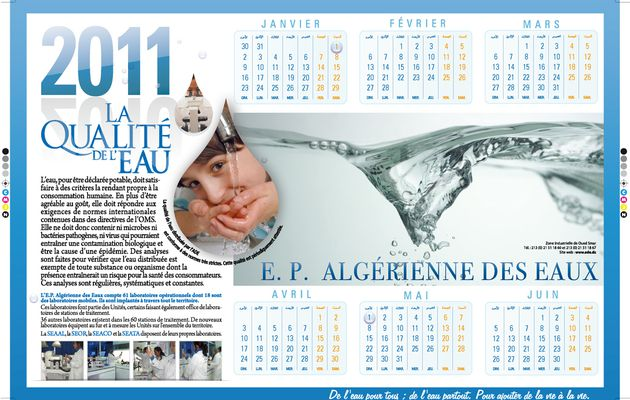 CALENDRIER SOUS-MAINS ADE