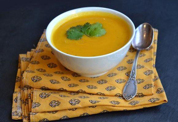 Soupe Carottes, Panais et Coriandre