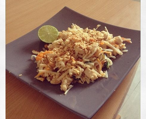 Pad Thaï plat traditionnel Thaïlandais