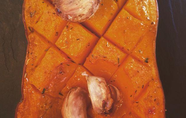 Butternut rotie, à l'ail et aux herbes de Provence