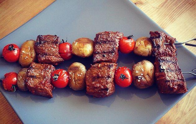 Brochette de bœuf au paprika