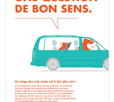 """Campagne Klippan pour le Rear facing """"une question de bon sens """" !"""