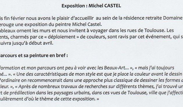 EXPOSITION AU DOMAINE DE BORDEROUGE