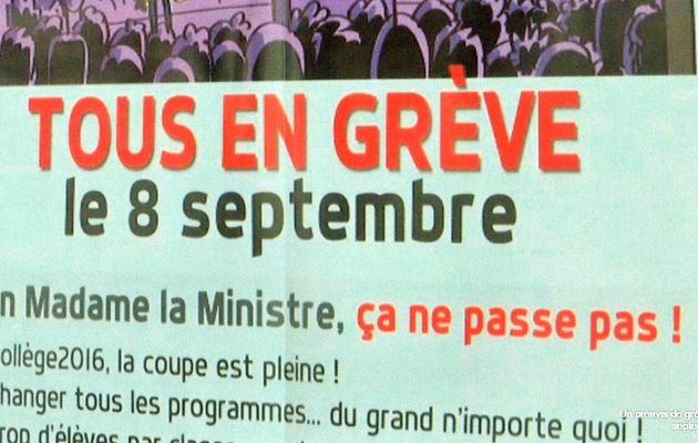 GREVE DES ENSEIGNANTS