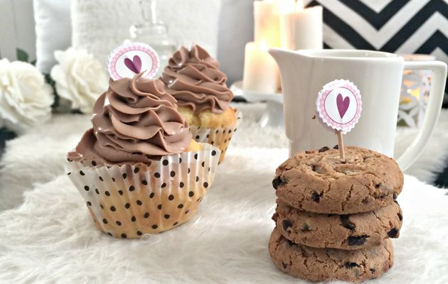 Cookies coeur Nutella & Chocolat chaud speculoos Perfect cocooning