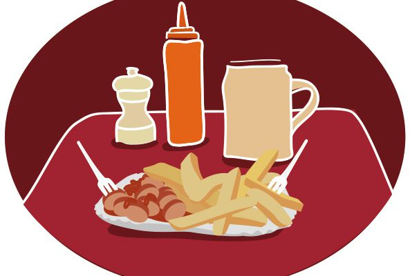 Currywurst frite