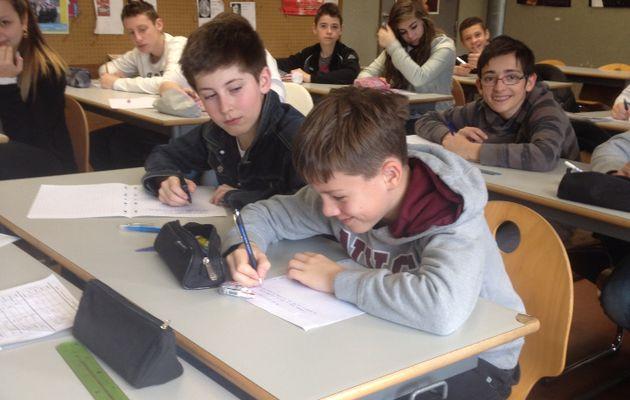 Dictée francophone 2014 les 4d très studieux...