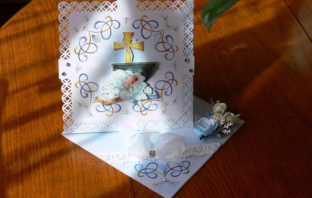 Carte baptême garçon