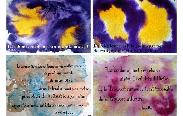 Monotypes et citations en défi
