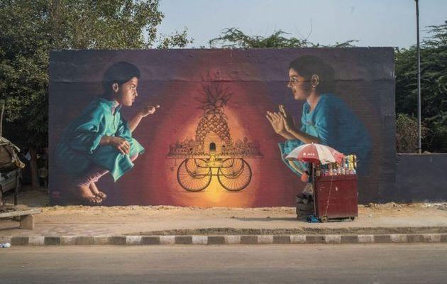 STREET ART à NEW DELHI