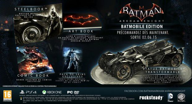 Batman Arkham Knight sans Batmobile Edition