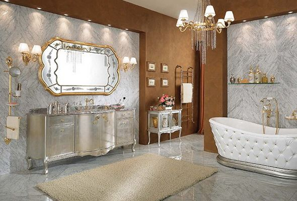 luxury design of bathroom