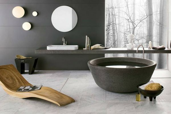 Design natural bathroom