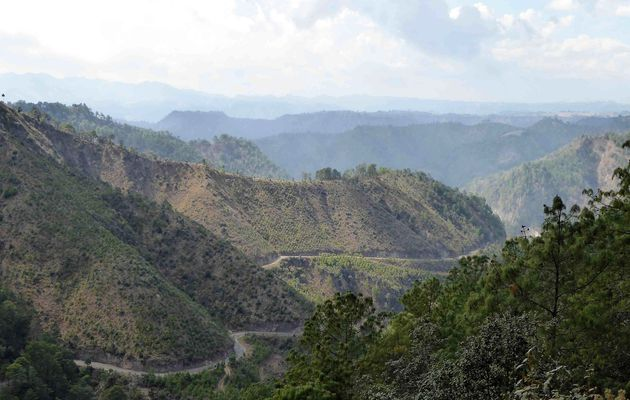 Panajachel, Guatemala à vélo 1er Mars 2017. Une etape marathon.