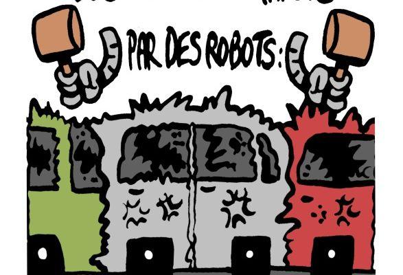 Des voitures garées par des robots: