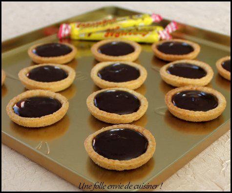 Mini-tartelettes au chocolat et carambar