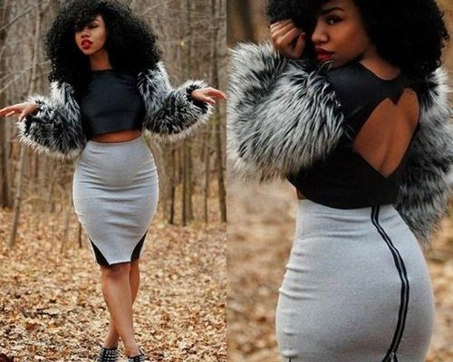 jupe  crayon taille haute
