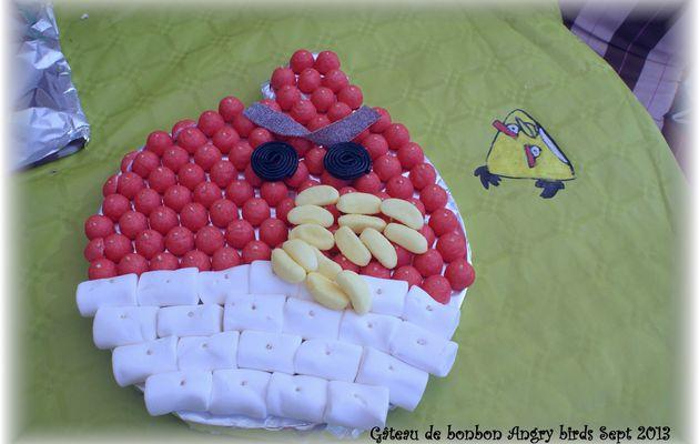 anniversaire angry birds gâteau de bonbon