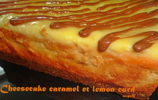 "ma prochaine recette ""Cheesecake caramel et lemon curd"""