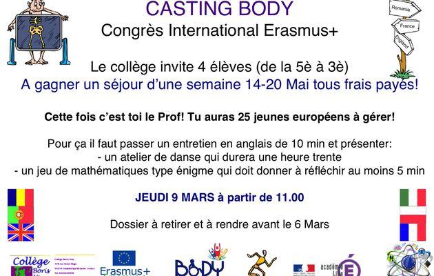 CASTING Congrès International Erasmus+