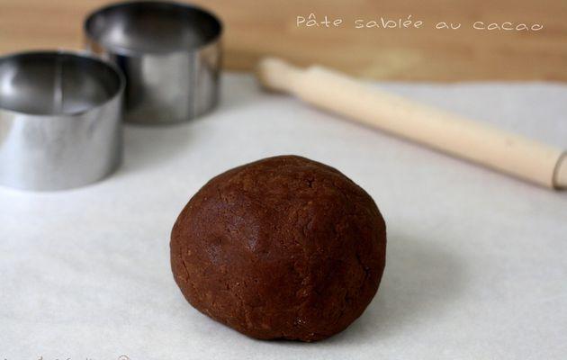 Pâte sablée au chocolat (cacao)