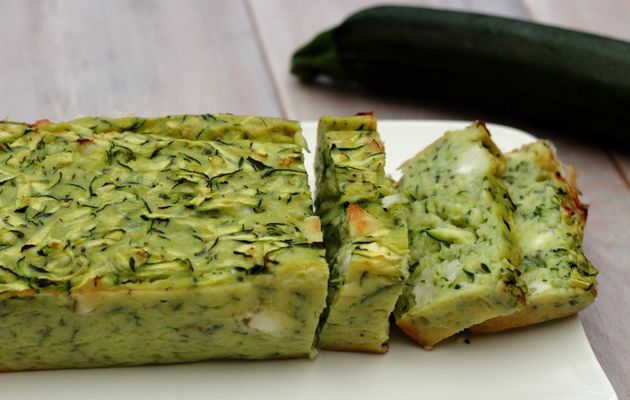 Cake Courgettes Tomates Thon