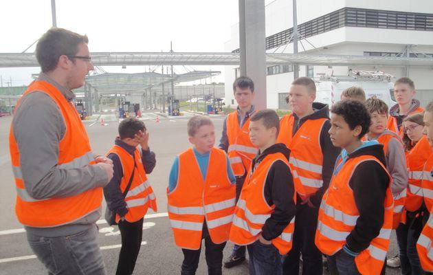 Visite des entrepôts Bus/Tram à Dijon 6eS