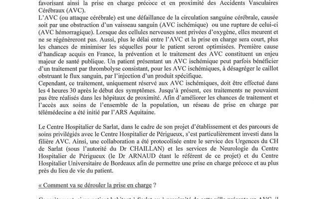 Hôpital de Sarlat : dossier de presse - début 2016 (documents)