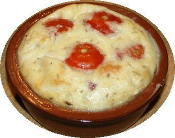 Clafoutis salés aux tomates cerise et au chèvre