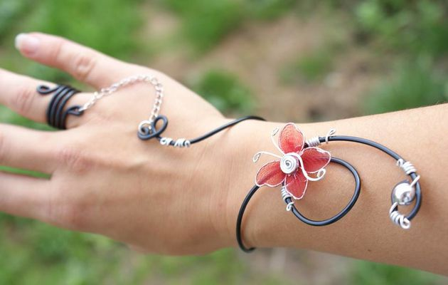 Nouveau modèle collier Bracelet fil aluminium