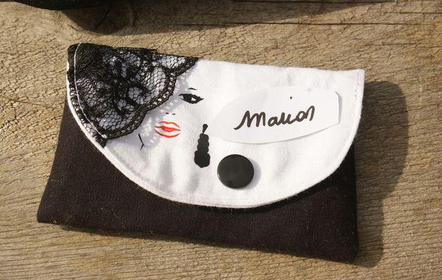 Ensemble Rétro Vintage sac, porte monnaie et porte carte