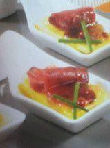 Cuiller apéritive au canard et à la mangue
