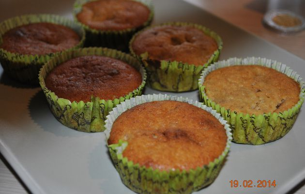 Muffins banane speculoos♣