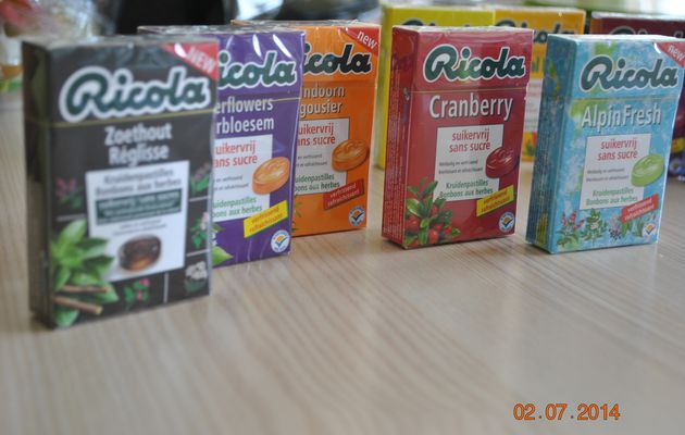 Partenaire; ricola, my candy box, fisherman's friend, godiva