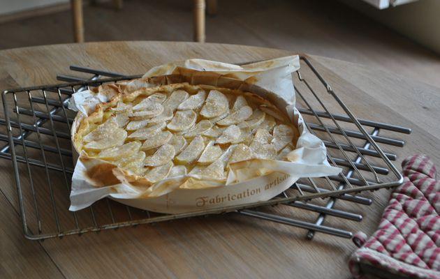 Tarte aux pommes du mercredi après midi, ou tarte de la flemme.