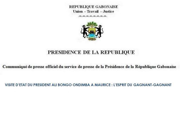Visite d'état du Président Ali Bongo Ondimba à Maurice : L'esprit du Gagnant- Gagnant