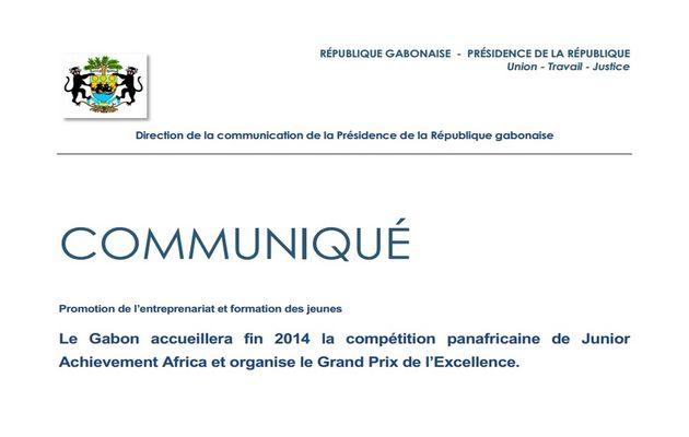 Le Gabon accueillera fin 2014 la compétition panafricaine de Junior Achievement Africa et organise le Grand Prix de l'Excellence