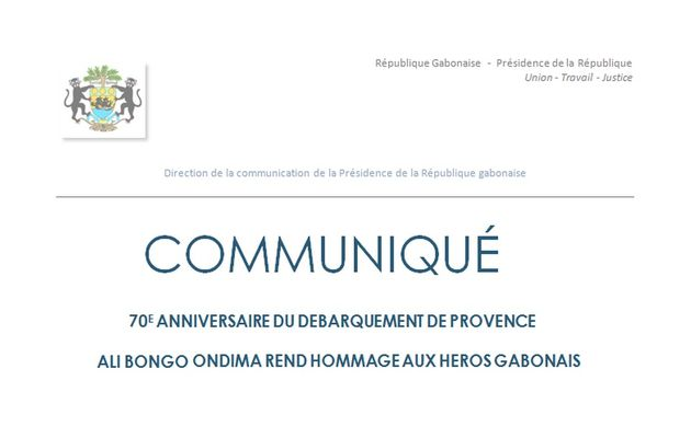 Le Président Ali Bongo Ondimba rend hommage aux héros Gabonais