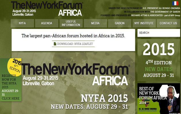 Le New York Forum Africa 2015 du 29 au 31 août