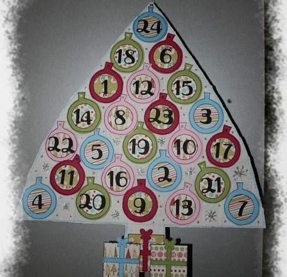 Calendrier de l'Avent sapin de Noël 2008