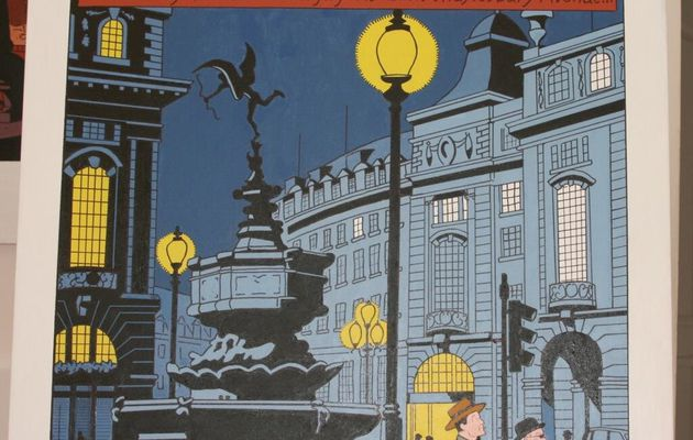 Two Blake and Mortimer paintings by Alain Meunier!