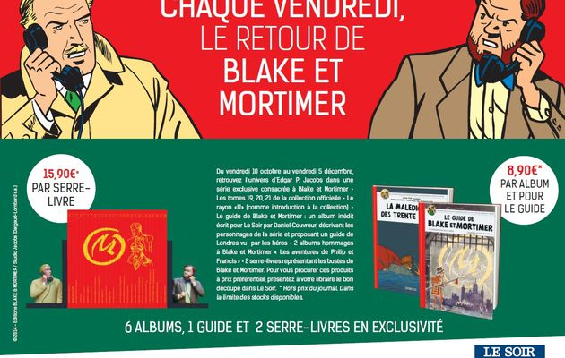 Le Soir offers an exclusive Blake and Mortimer collection!