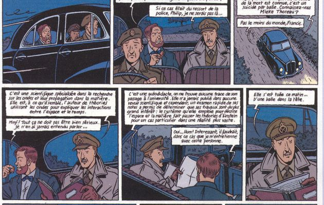 The test by Joann Sfar and Émile Bravo for Blake and Mortimer