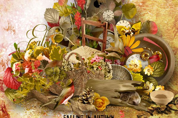 Falling in Autumn *** Nouvelle Collection complète NEW COLLECTION *** Simplette Scrap and Design
