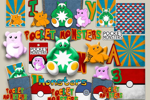 des Pokémons ? Des Pockets Monsters !!